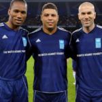 Drogba, Ronaldo y Zidane juntos en partido contra la pobreza