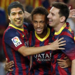 """Barcelona y su """"tridente histórico"""": Messi, Neymar y Suárez"""