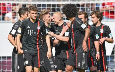 Bayern Múnich derrotó 2 a 0 al Hoffenheim por la jornada 29 de la Bundesliga y quedó a puertas de ganar el tricampeonato local. Claudio Pizarro ingresó en los últimos minutos de juego.