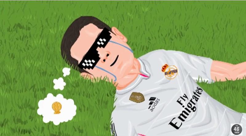 """En YouTube se puede ver una parodia del mexicano Javier """"Chicharito"""" Hernández, quien anotara el tanto que le dio a Real Madrid el pase a la semifinal de la Champions League sobre el Atletico de Madrid."""