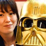Star Wars: réplica de oro de la máscara de Darth Vader