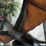 Hallanfósil de pequeño dinosaurio chino con alas de murciélago