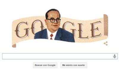 El doodle formado con la imagen del jurista indio Bhimrao Ramji Ambedkar es la principal imagen de la portada del buscador Google.
