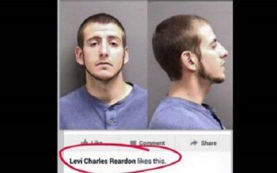 La cuenta de Facebook CrimeStopper colgó la imagen de Levi Charles de 23 años, buscado por falsificar documentos. Nunca imaginaron, sin embargo, que el mismo Charles le iba a dar Me gusta a su foto de Se busca en Facebook.