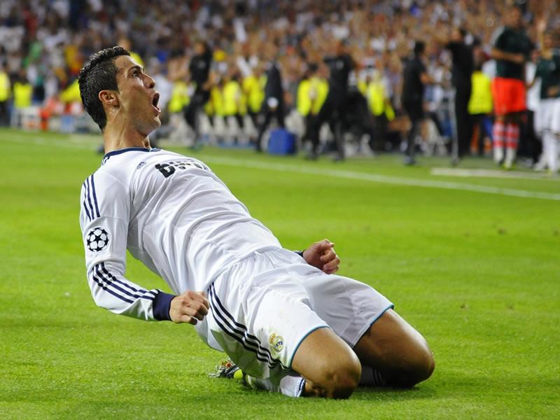 Cristiano Ronaldo celebra.