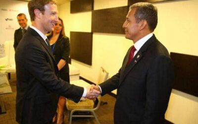 PANAMÁ.- El presidente de la República, Ollanta Humala, se reunió hoy con el creador de Facebook, Mark Zuckerberg, con motivo de la VII Cumbre de las Américas, en Panamá.