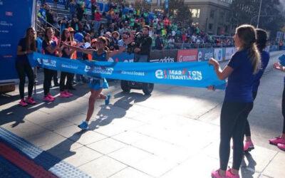 La peruana Inés Melchor triunfó en la Maratón de 42 kilómetros realizada en Santiago de Chile, con un tiempo de 2 horas, 28 minutos y 18 segundos.