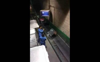 YouTube muestra cómo algunos trabajadores descuidan el traslado de las maletas de los pasajeros hacia la cinta transportadora, en un aeropuerto en Arabia Saudí.