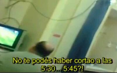 YouTube muestra a Javier Barraza, traumatólogo del hospital Joaquín Castellanos, en la provincia de Salta (Argentina), quien concentrado en la Champions, faltó a la ética médica al ignorar a varios pacientes que requerían atención.