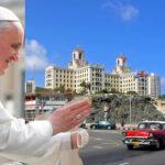 Papa Francisco evalúa una escala en Cuba durante su viaje a EEUU