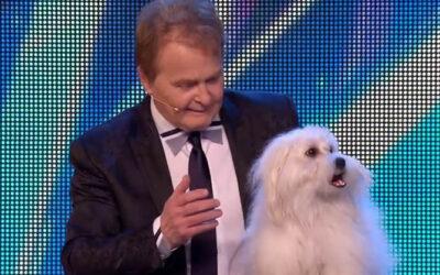 YouTube presenta al francés Marc Métral, de 61 años. quien logró en las audiciones de Britain's Got Talent que su perrita, Miss Wendy, hablara, cantara y hasta maullara, ante el asombro del jurado del programa.