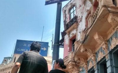 El Ministerio de Cultura anunció que cumplió con supervisar los trabajos de emergencia en el edificio de la Plaza Dos de Mayo debido al peligro que representaban para los transeúntes sus débiles estructuras.