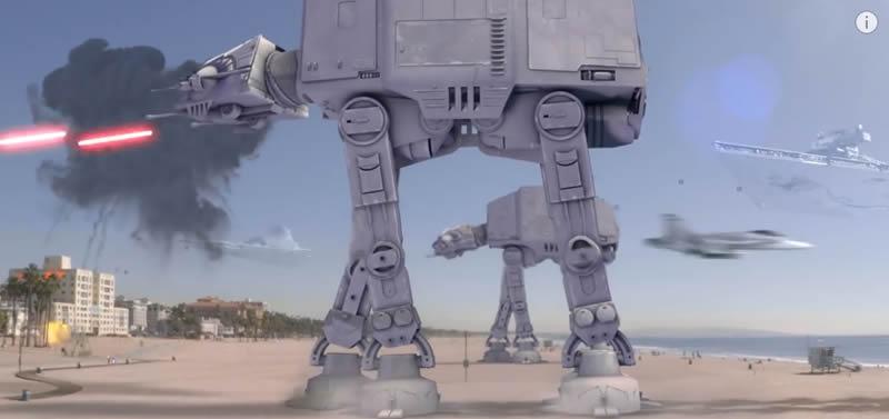 YouTube: el Imperio de Star Wars invade Estados Unidos.