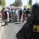 Tía María: Policía despeja vías y restablece el orden en Cocachacra