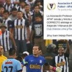 Alianza Lima: árbitros felicitan a Ramón Blanco por expulsiones