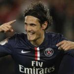 Triplete de Edinson Cavani le da medio título al Paris Saint-Germain