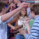 Antonella Rocuzzo se emociona con el segundo gol de Lionel Messi