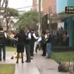 San Juan de Lurigancho: balean a dos vigilantes de un colegio (VIDEO)