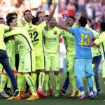 Barcelona celebra su título 23 de Liga BBVA de la mano de Messi