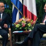 Presidente Francois Hollande se reunió con Raúl Castro y Fidel (Videos)