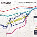 Metro de Lima: conoce el plan de desvíos en la Carretera Central
