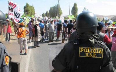 AREQUIPA.- Cuatro policías gravemente heridos y otro desaparecido dejan los enfrentamientos en la provincia de Islay en la región Arequipa, a consecuencia del paro contra el proyecto minero Tía María.