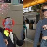 Jennifer López es sorprendida por payaso en aeropuerto (VIDEO)