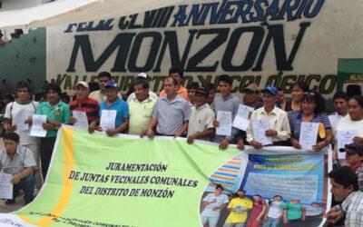 La Presidencia del Consejo de Ministros (PCM) dio cuenta en el distrito de Monzón, región Huánuco, el estado de los proyectos para el desarrollo de esta zona del país.