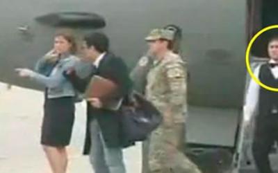 Un mozo estuvo en la delegación peruana que trajo desde Puno, esposado y con un chaleco antibalas a Martín Belaunde Lossio, quien la tarde del viernes fue internado en el penal de Piedras Gordas en Ancón.