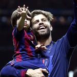 Champions League: catalanes celebraron con sus hijos (FOTOS)