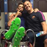 Así celebraron los jugadores del Barcelona el triplete en redes sociales