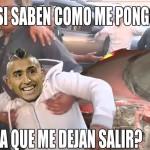 Arturo Vidal: memes tras accidente del delantero chileno