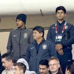 Neymar presente en el Brasil-Venezuela, desde la tribuna