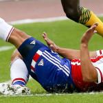 Samudio lamenta lesión y no jugaría ante Uruguay