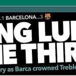 Barcelona campéon de Champions: así se informó al mundo