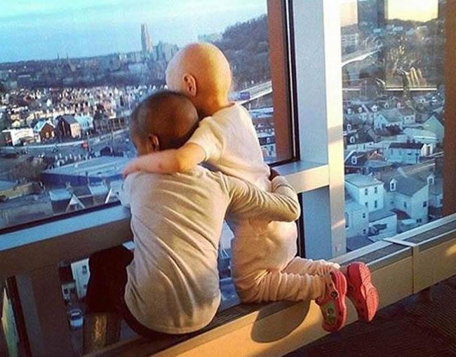 Una conmovedora imagen sacude las redes sociales: se trata de dos niñas con cáncer unidas en un fraterno abrazo. La foto fue tomada en un hospital pediátrico de Pittsburgh, en los Estados Unidos.