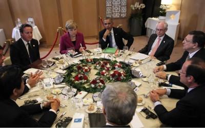 ELMAU/ALEMANIA.- Los líderes del G7 comenzaron hoy su cumbre en el palacio bávaro de Elamu (sur de Alemania) con una agenda centrada en la evolución de la economía y en las difíciles relaciones con Rusia por la crisis de Ucrania.