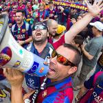 Champions League: las hinchadas armaron la fiesta (GALERÍA)