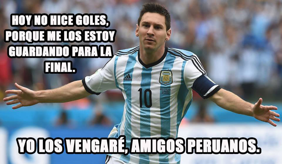 Messi, todos te odiamos.