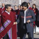 Evo Morales saluda con enorme alegría trabajo conjunto con Perú