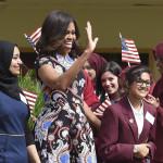 Michelle Obama aboga en Londres por educación de las niñas
