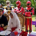 'Power Rangers' resguardaron boda en Malasia