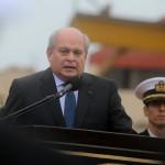 Cateriano presidió ceremonia de colocación de mástil de BAP Unión