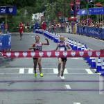 Atleta perdió carrera por celebrar antes de tiempo