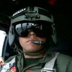 Parada Militar: saludo desde un helicóptero al Presidente
