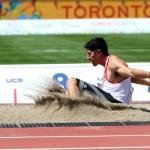 Toronto 2015: Jorge McFarlane quedó lejos de medalla en salto largo