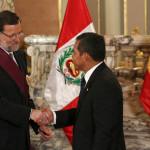 Ollanta Humala y Mariano Rajoy se reúnen en España