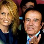 Argentina: Fiscalía investiga a expresidente Menem y a Cecilia Bolocco