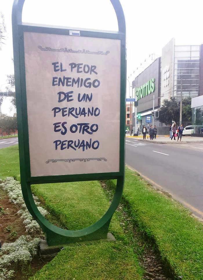 El peor enemigo de un peruano es otro peruano: critican mensaje