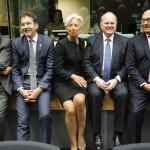 Eurogrupo tras once horas de debates dividido sobre futuro de Grecia